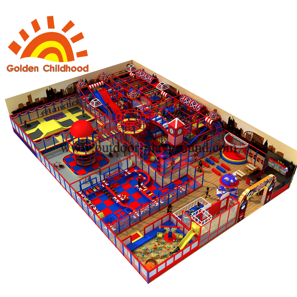 Britain Style Indoor Playground Equipment For Kids