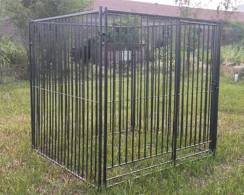 Black Large Welded Dog Kennel