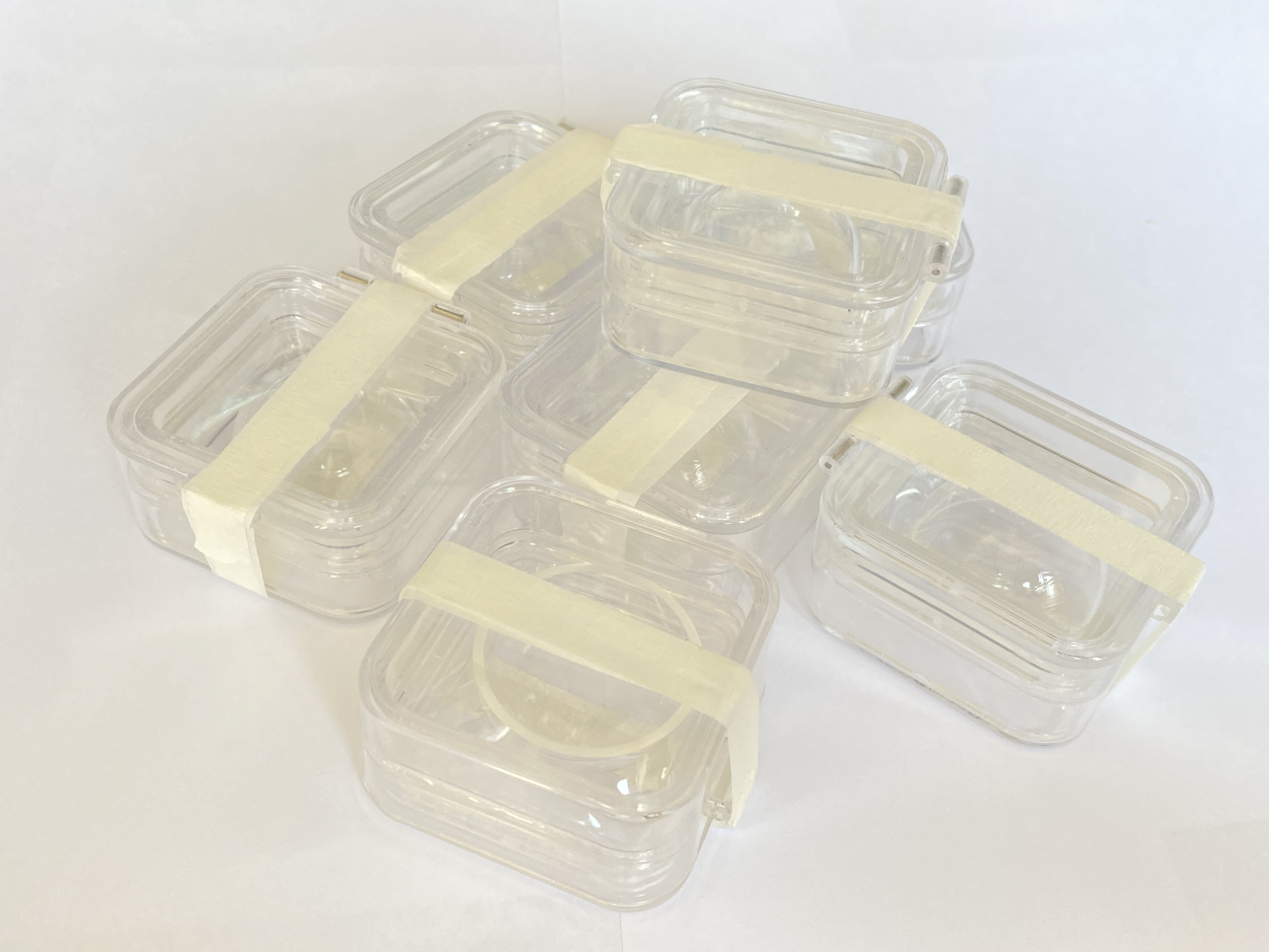 protective case for spherical glass lens only optical lenses storage box with high elastic membrane