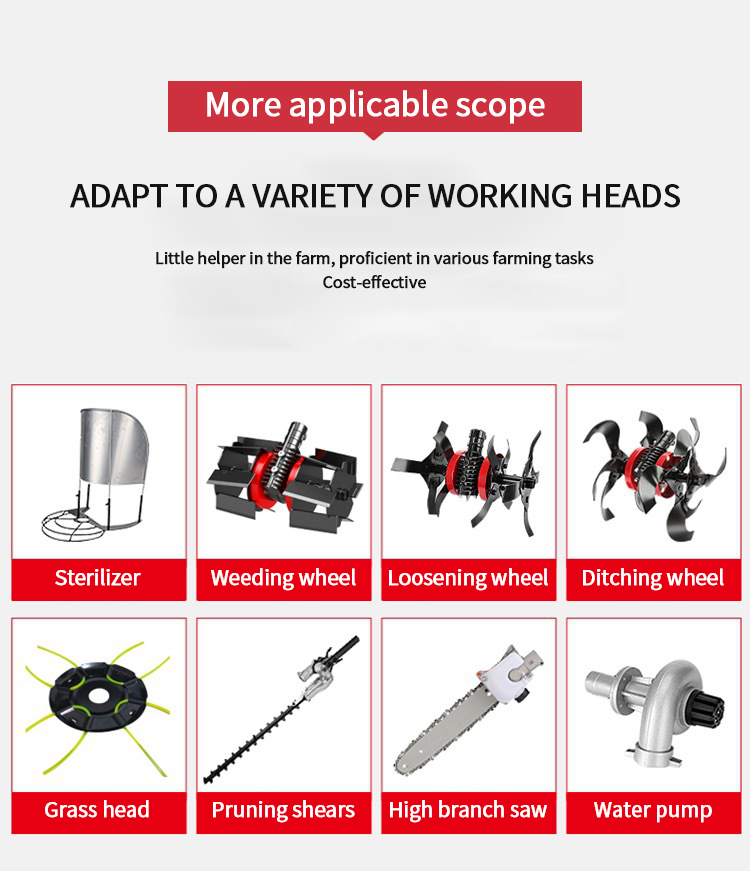 Lawn mower knapsack small household electric lawn mower four-stroke brush cutter multifunctional lawn mower