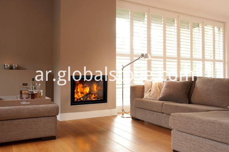 2 double-sided wood fireplace