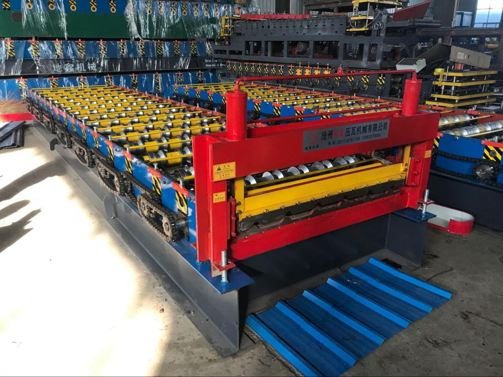 Trapezoidal colored customized roll forming