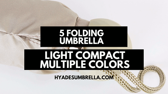 Light Compact Multiple Colors 5 Folding Umbrella