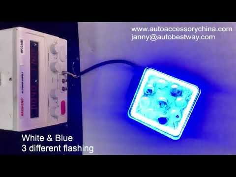 NEW 5D LED WORKING LAMP WITH STROBE LIGHT AND LED RING