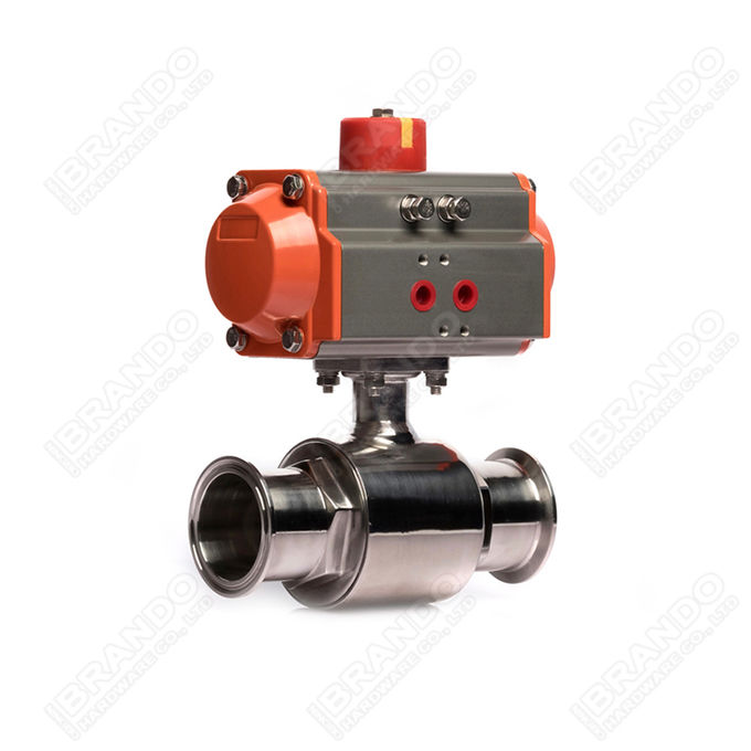 Sanitary Stainless Steel Tri Clamp Ball Valve With Pneumatic Actuator 4