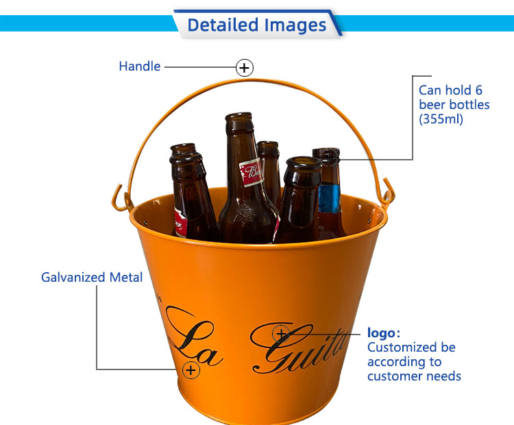 Featured double-sided printing handle ice bucket
