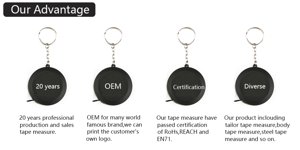 Hot sale measuring tools 3m 5m 7.5m 10m round tape measure steel material OEM logo available