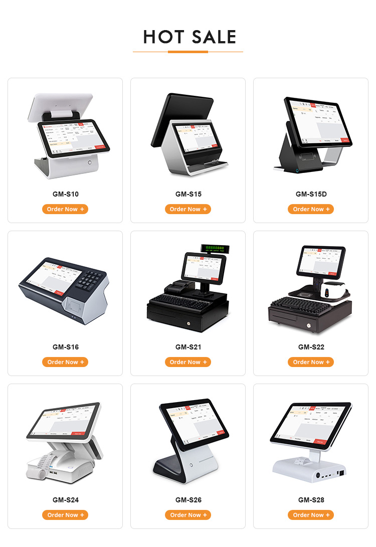 Dual Capacitive screen POS