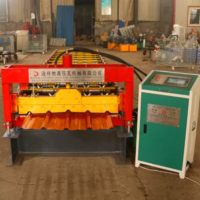 840Trapezoidal roof sheet roll forming machine