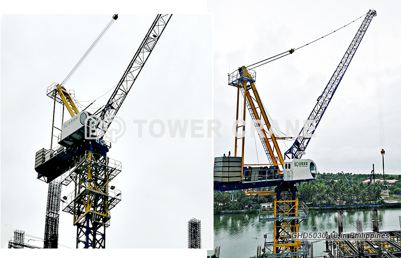 Luffing Tower Crane GHD5030-10 in Philippines