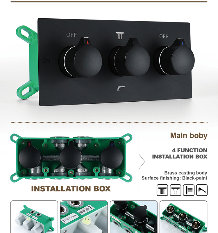 Black Shower Valve