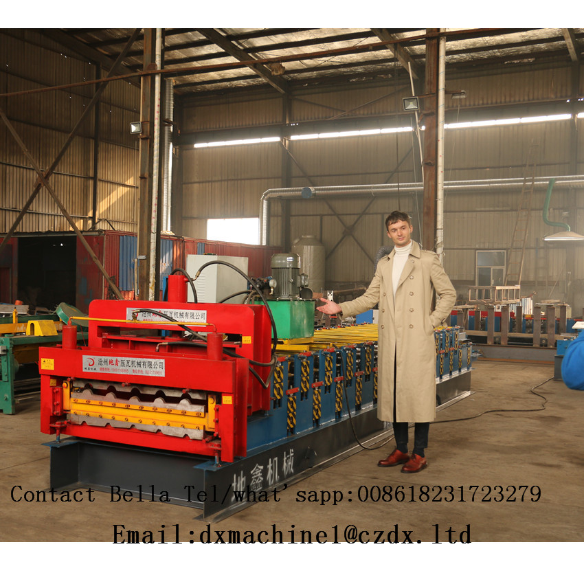 Customized Double Layers Roll Former Step tile roll forming machine
