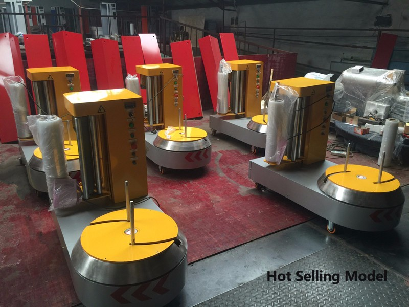 Stretch film wrapping packaging machine