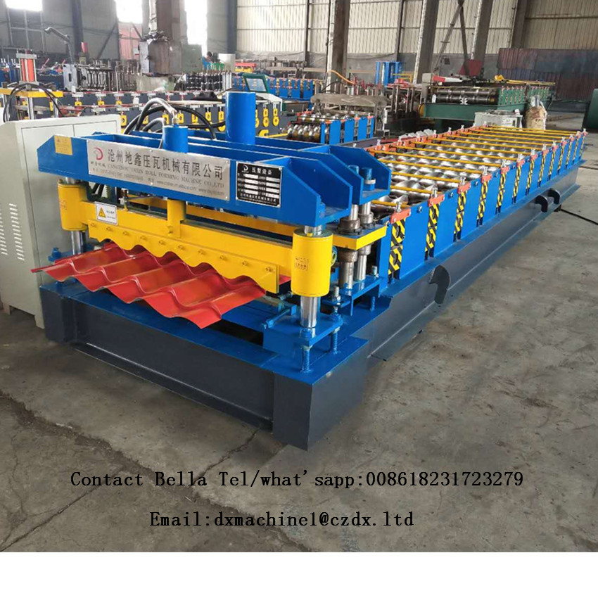 Glazed Step Tile Roof Sheet Roll Forming Machine