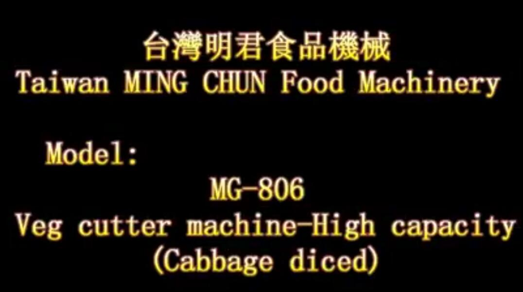 MG 806 Veg cutter machine High capacityCabbage diced