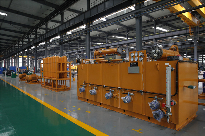 Hydraulic system static pressure molding line