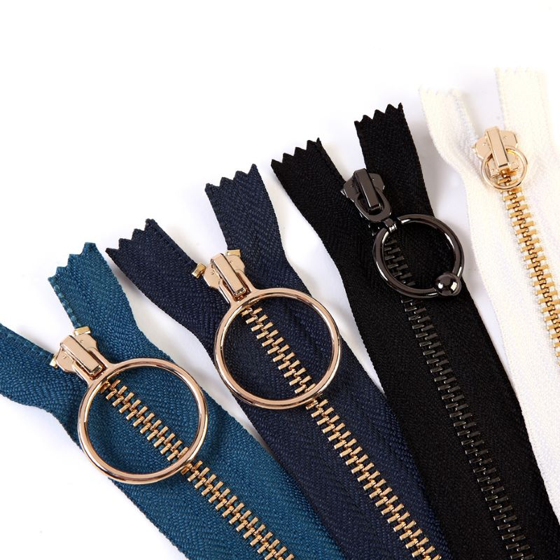 Hot sale multiform brass zipper slider for clothing
