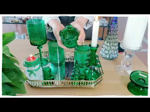 Christmas tree decor glass candle holders for taper and tealight wine glass cup