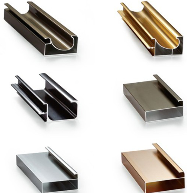 6063 T5 Extrusion Aluminium Gola Profile For Kitchen Cabinet Handle With Various Colors