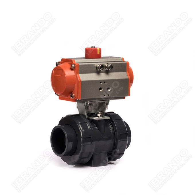 Sanitary Stainless Steel Tri Clamp Ball Valve With Pneumatic Actuator 6