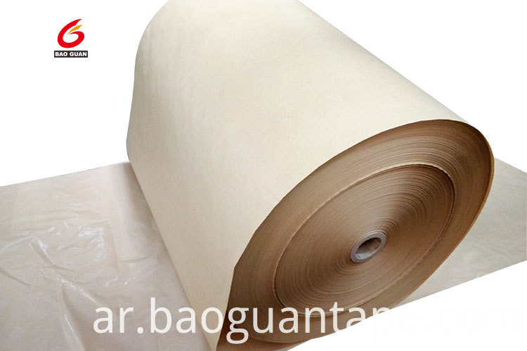 Single Side Pe Silicone Coated Brown Kraft Release Paper