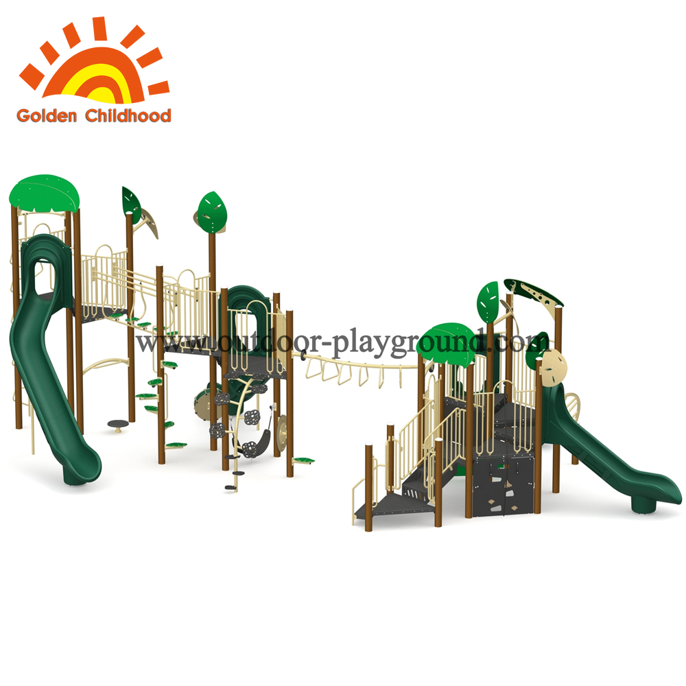 Outdoor play structure gym combination slide