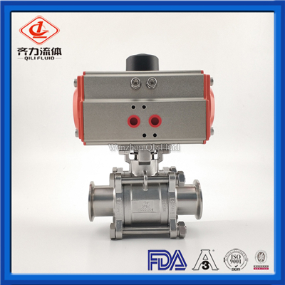 Stainless Steel Sanitary pneumatic Ball valves
