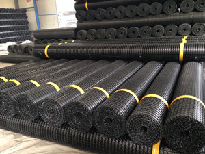 PP biaxial geogrid is producing