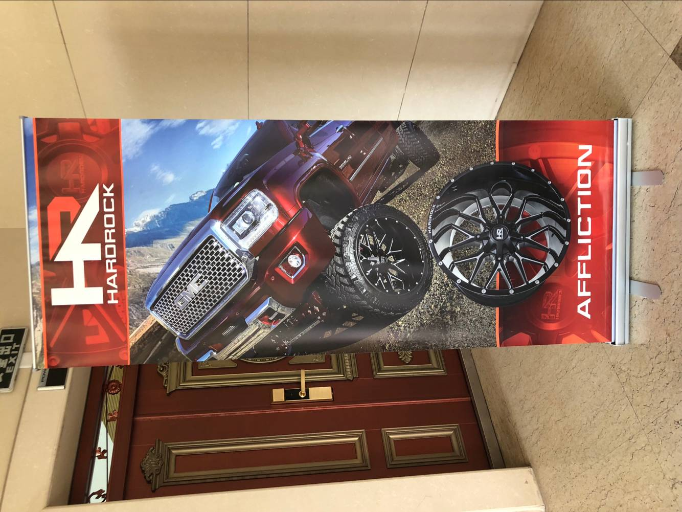 Custom Roll up Banner with 80x200 cm printed banner