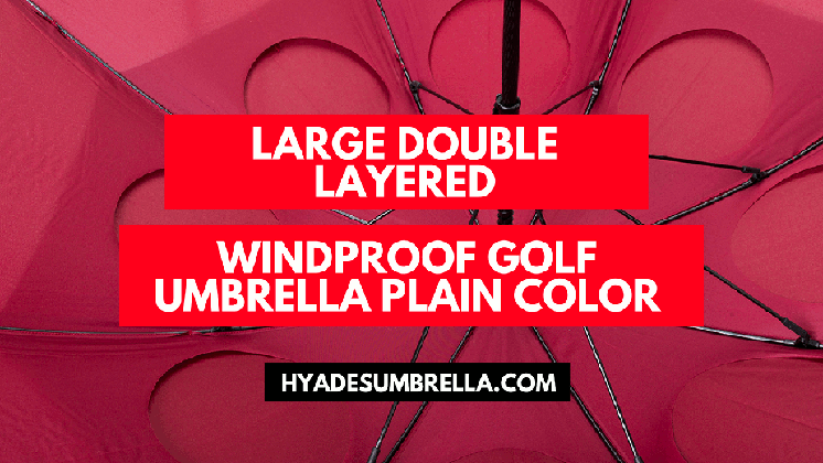 Large Double Layered Windproof Golf Umbrella