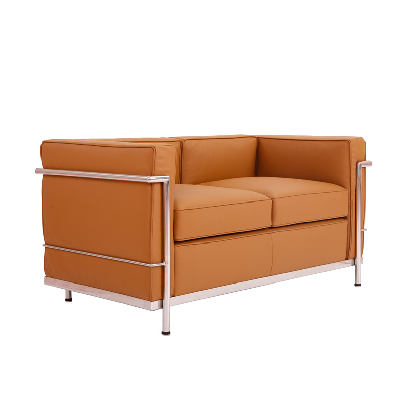 Le corbusier lc2 2-seat leather sofa by Yadea furniture