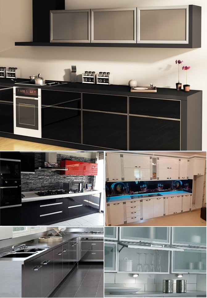 factory extruded aluminum for modern furniture designs g gola channel profiles for kitchen cabinet door 2020 new anodized color