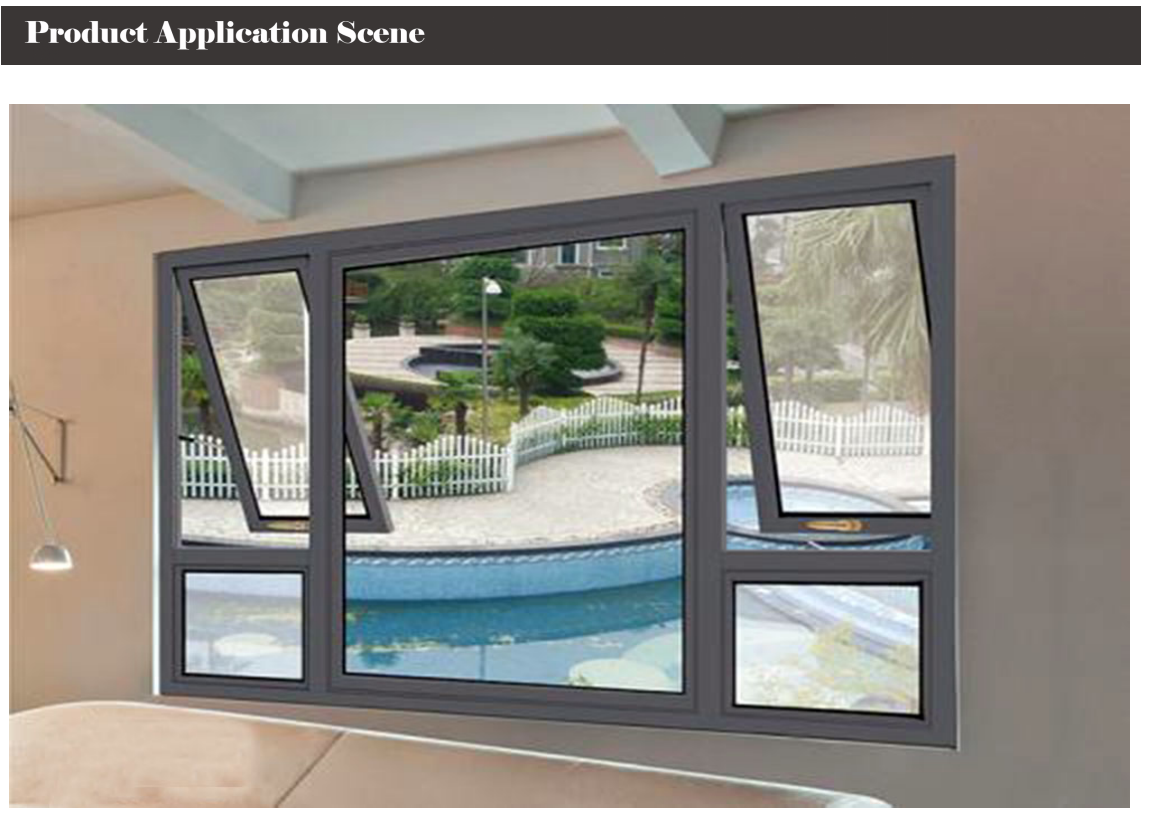 KHL70 Series Aluminium Top Swing Hanging Windows White Powder Coated Color Tempered Glass
