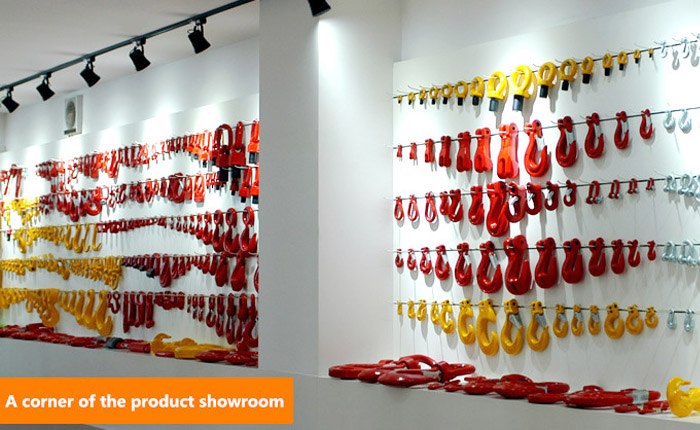 A corner of the product showroom