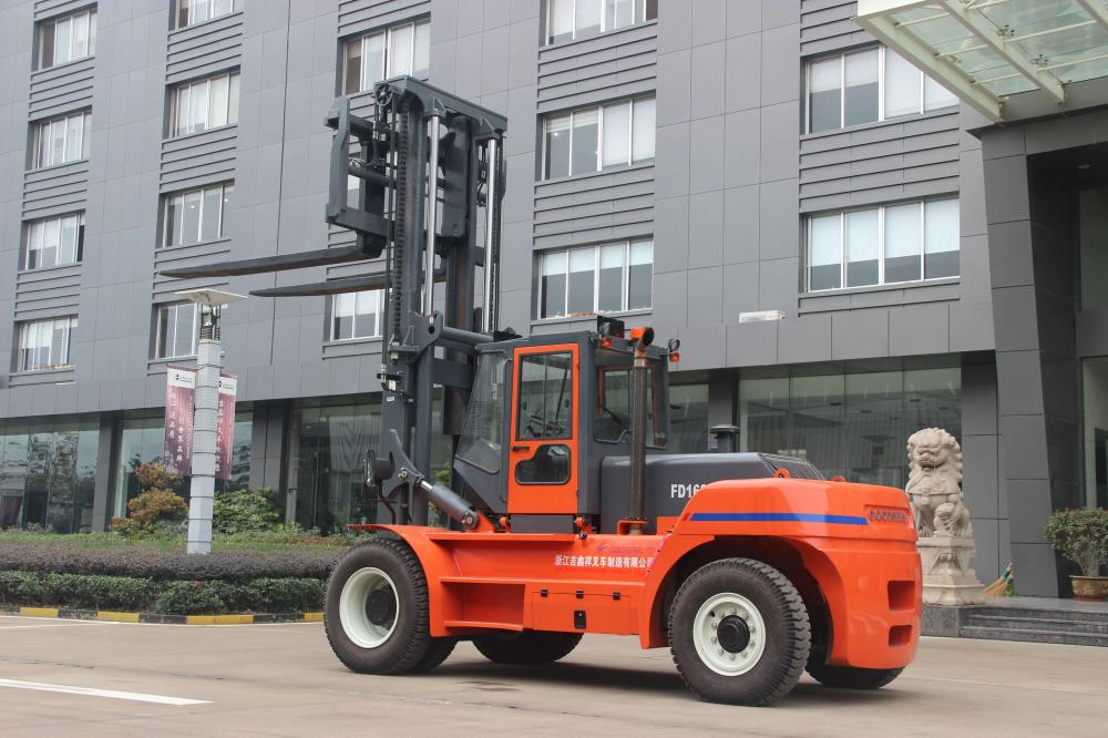China Made Goodsense  16ton diesel forklift for China Eastern Airline with Volvo engine