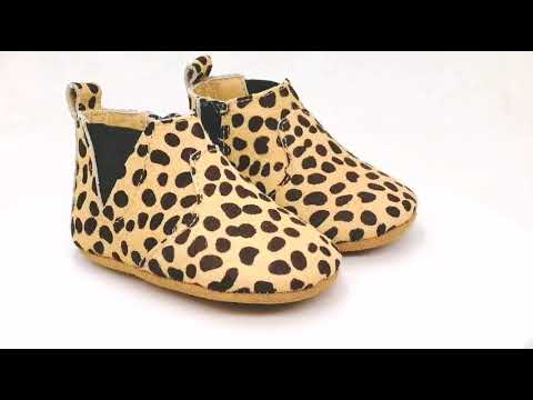 Mo Hair Leopard Soft Sole Baby Ankle Boots