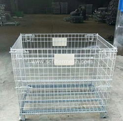 Galvanized Steel Wire Mesh Storage Basket