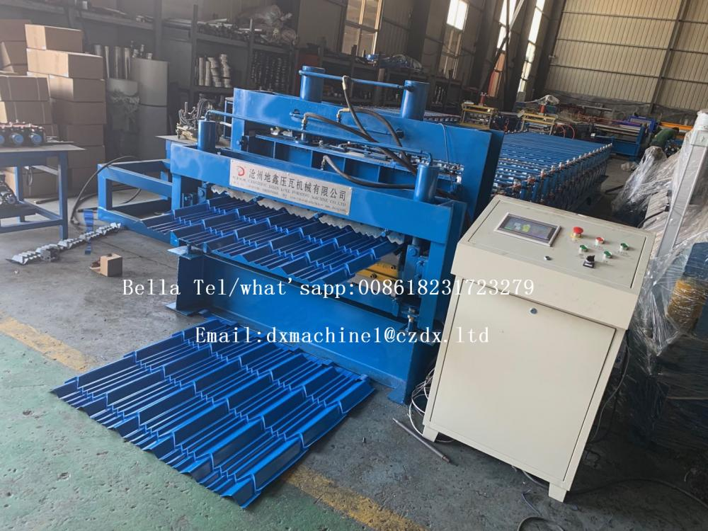 Metal Glazed Tile Sheet Roll Forming Machine For Sale