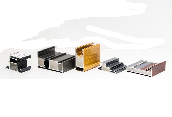 Soem-eloxierte Oberflächenaluminiumtür profiliert 6063 T5 Legierungsstrukturierte Form 0