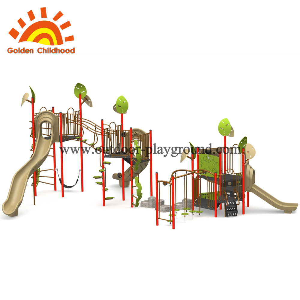 Outdoor playground combination slide