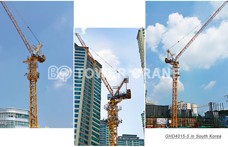 Luffing Tower Crane GHD4015-5 in South Korea