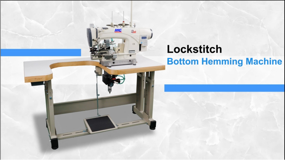 Lockstitch bottom hemming machine & Sew Thin Fabric & Reverse Folder