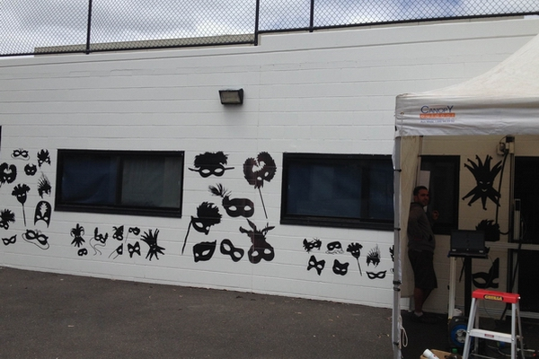 Outside wall printing site in Australia