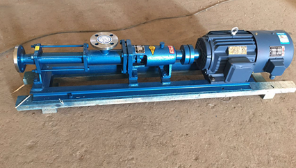 thick sludge transfer single screw pump