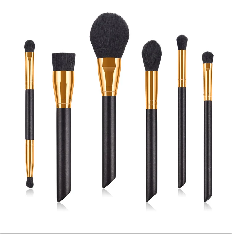 Black Color Makeup Brushes For Face