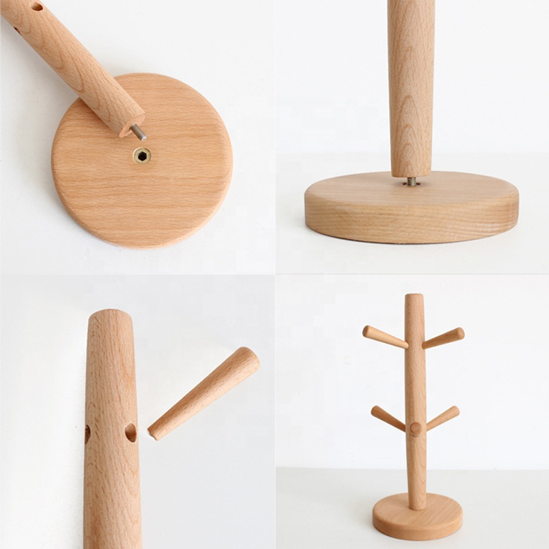 Wood Stand Hanger Cup Rack