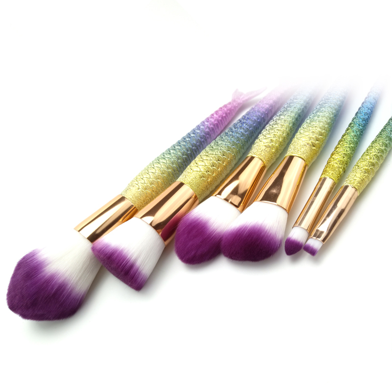 Ombre Rainbow Cosmetic Brush Set