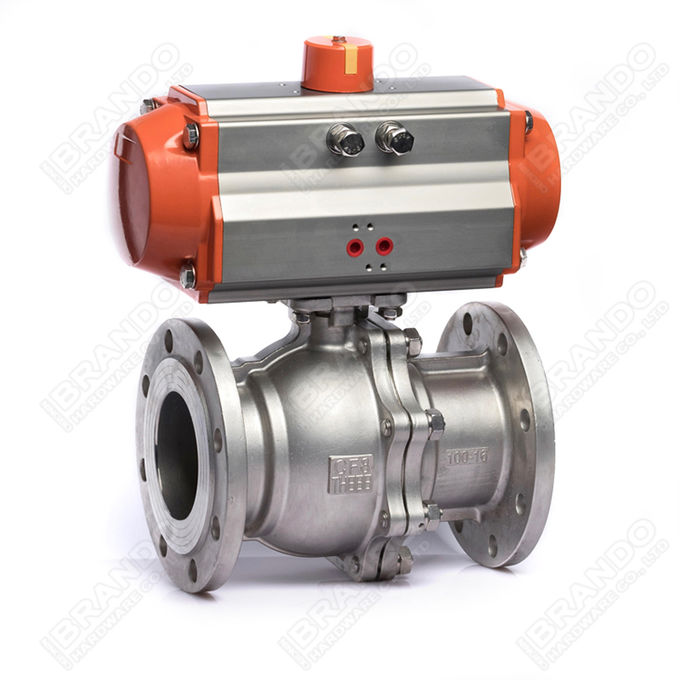 Sanitary Stainless Steel Tri Clamp Ball Valve With Pneumatic Actuator 5
