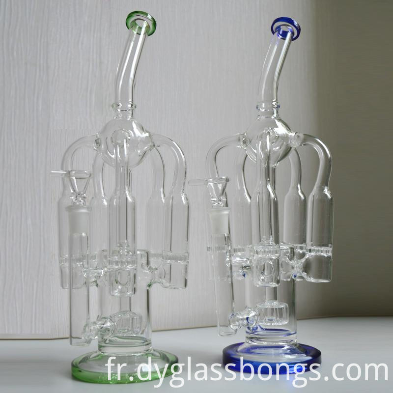 Crooked neck backwater glass water pipe