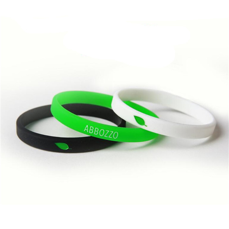 All kinds of silicone bracelets silicone wristbands